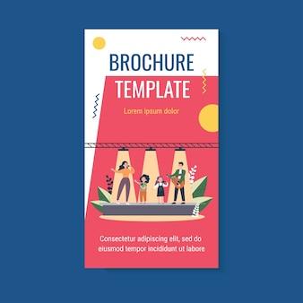 Szablon broszury dla rodzinnego programu talentów