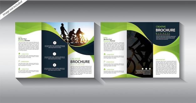 Szablon broszury dla układu ulotki