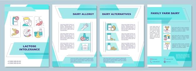 Szablon broszury dotyczący nietolerancji laktozy