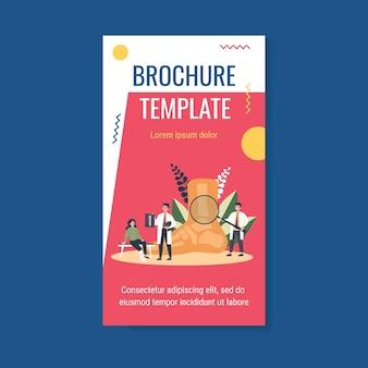 Szablon broszury dotyczący urazu stopy lub palca