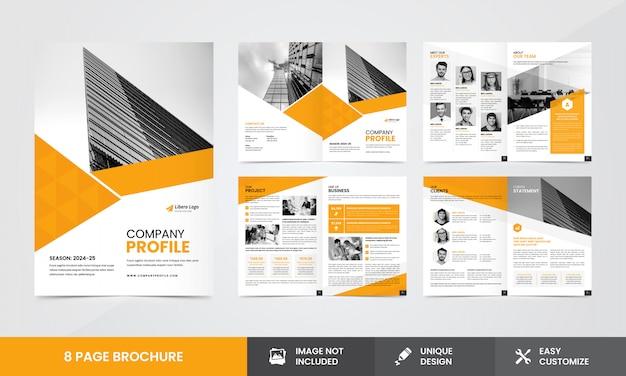 Szablon broszury firmowej profil firmy