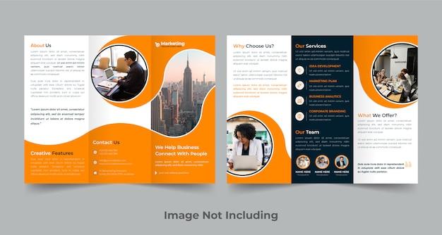 Szablon broszury firmowej trifold