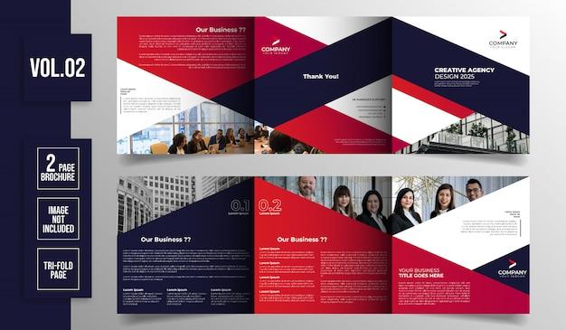 Szablon broszury firmy potrójny