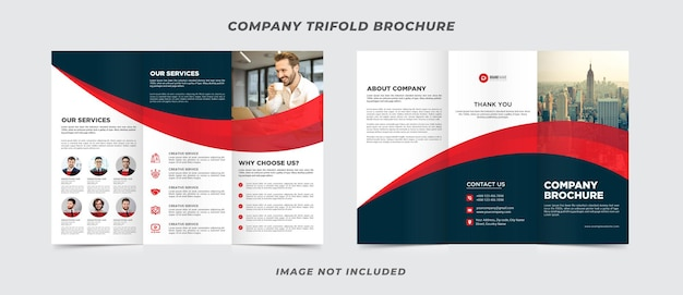 Szablon broszury firmy trifold