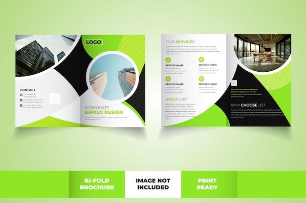 Szablon broszury korporacyjnej bi-fold