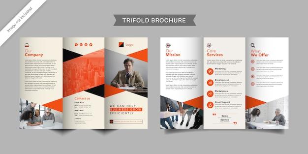 Szablon broszury korporacyjnej firmy potrójny