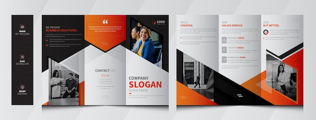 Szablon broszury korporacyjnej potrójnej
