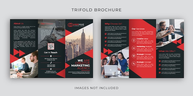 Szablon broszury korporacyjnej trifold