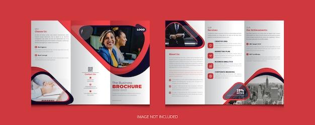 Szablon broszury kreatywnej firmy trifold