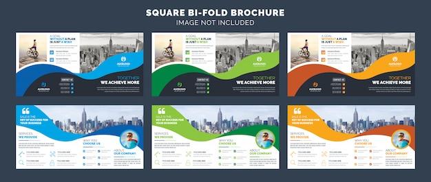 Szablon broszury kwadratowej bifold