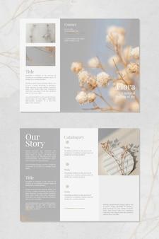 Szablon broszury kwiaciarni