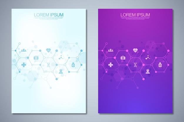 Szablon broszury lub okładki, układ strony, projekt ulotki