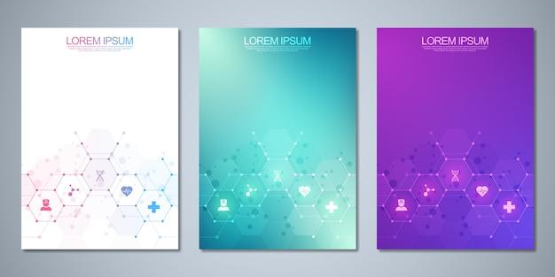 Szablon broszury lub okładki, układ strony, ulotka.