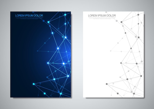 Szablon broszury lub projekt okładki