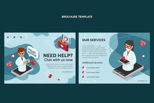 Szablon broszury medycznej o płaskiej konstrukcji
