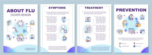Szablon broszury na temat grypy