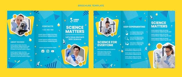 Szablon broszury naukowej o płaskiej konstrukcji