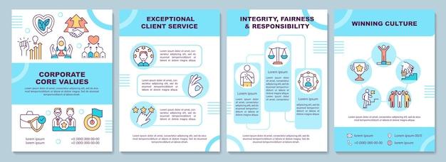 Szablon broszury o podstawowych wartościach firmy