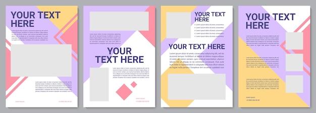 Szablon broszury obsługi klienta. artykuł informacyjny. ulotka, broszura, druk ulotek, projekt okładki z miejscem na kopię. twój tekst tutaj. układy wektorowe czasopism, raportów rocznych, plakatów reklamowych