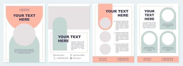 Szablon broszury ogłoszenie uniwersytetu.