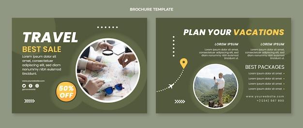 Szablon broszury płaskiej podróży