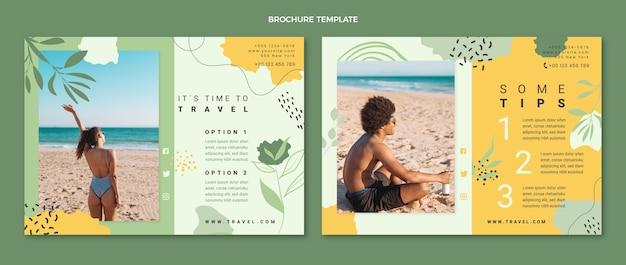 Szablon broszury podróżnej w stylu płaskim