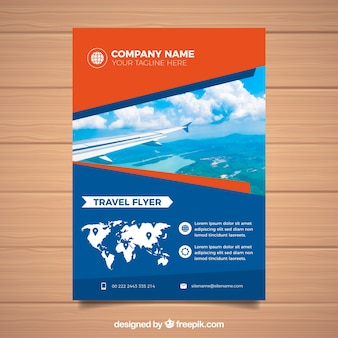 Szablon broszury podróży fotograficznej
