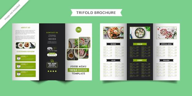 Szablon broszury potrójnego menu żywności