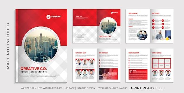 Szablon broszury profilu firmy, projekt broszury korporacyjnej