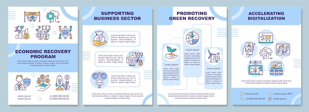 Szablon broszury programu naprawy gospodarczej