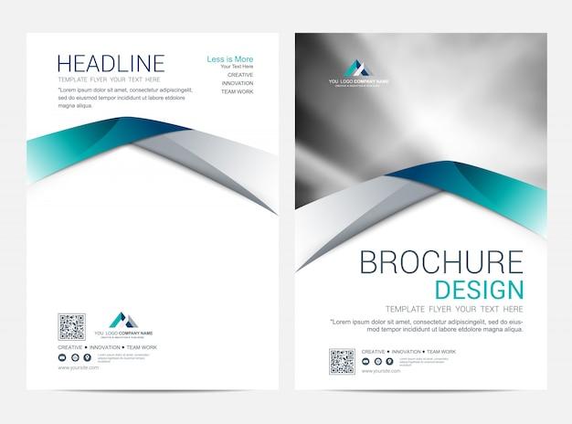 Szablon broszury, projekt okładki