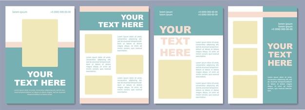 Szablon broszury promującej markę. podnoszenie świadomości.