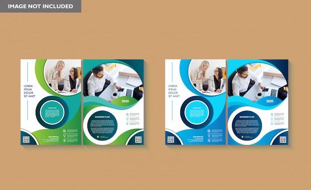 Szablon broszury raport roczny ulotka okładki magazynu
