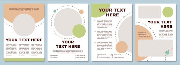Szablon broszury recenzji produktów. kampania marketingowa. ulotka, broszura, druk ulotek, projekt okładki z miejscem na kopię. twój tekst tutaj. układy wektorowe czasopism, raportów rocznych, plakatów reklamowych