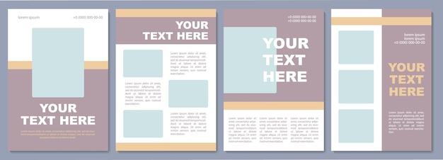 Szablon broszury reklamowej firmy. promocja marki. ulotka, broszura, druk ulotek, projekt okładki z miejscem na kopię. twój tekst tutaj. układy wektorowe czasopism, raportów rocznych, plakatów reklamowych