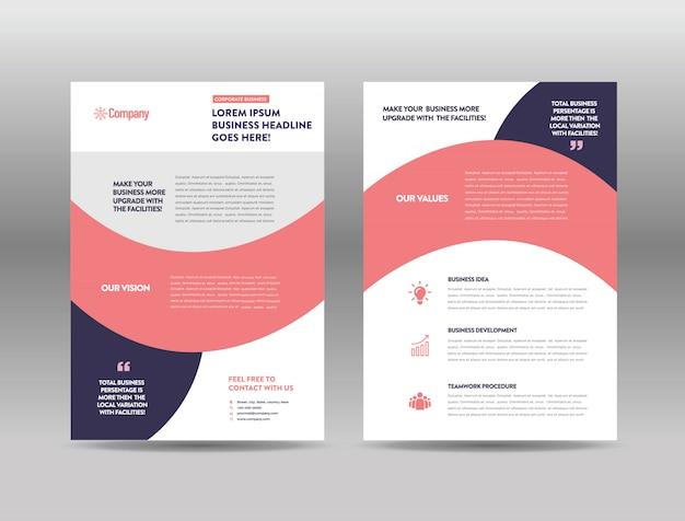 Szablon broszury reklamowej