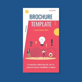 Szablon broszury rozwiązań biznesowych