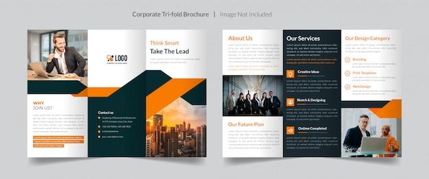 Szablon broszury składanej trzykrotnie