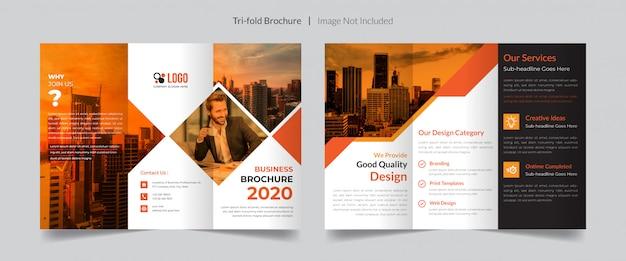 Szablon broszury składany na trzy części