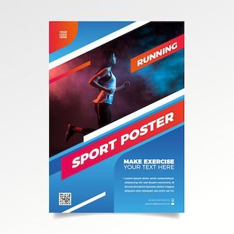 Szablon broszury sportowe