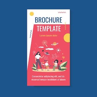Szablon broszury szkoły artystycznej dla dzieci