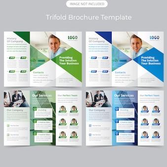 Szablon broszury trifold