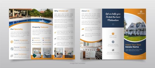 Szablon broszury trójdzielnej nieruchomości