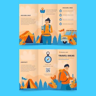 Szablon broszury trójdzielnej przygody