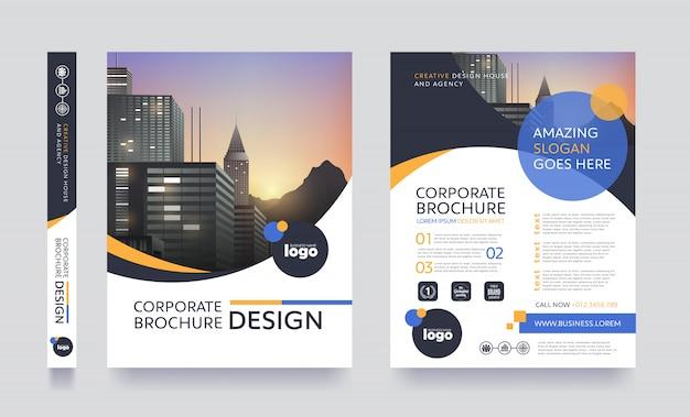 Szablon broszury ulotki nowoczesny plakat