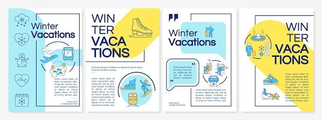 Szablon broszury wakacje zimowe
