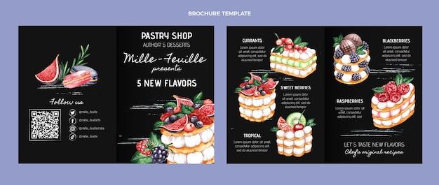 Szablon broszury z akwarelą żywności