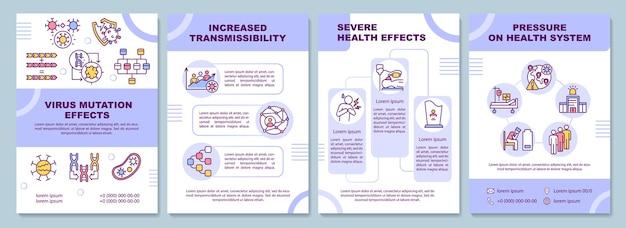 Szablon broszury z efektem mutacji wirusa