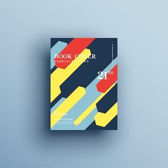 Szablon broszury z geometrycznymi kształtami