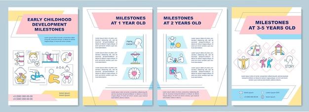 Szablon broszury z kamieniami milowymi rozwoju